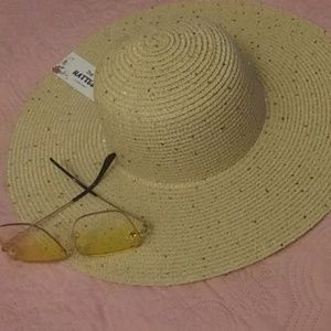 NWT Sun Hat with Gold Sequins